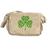 Irish Shamrock Skulls Messenger Bag