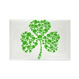 Irish Shamrock Skulls Rectangle Magnet (100 pack)