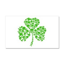 Irish Shamrock Skulls Car Magnet 20 x 12