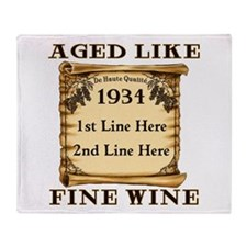 Fine Wine 1934 Throw Blanket