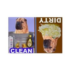 Shar Pei Rectangle Magnet (100 pack)