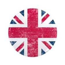"Vintage Union Jack 3.5"" Button (100 pack)"