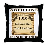 Fine Wine 1918 Throw Pillow