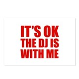 The dj is with me Postcards (Package of 8)