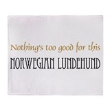 NTG-Norwegian Lundehund Throw Blanket