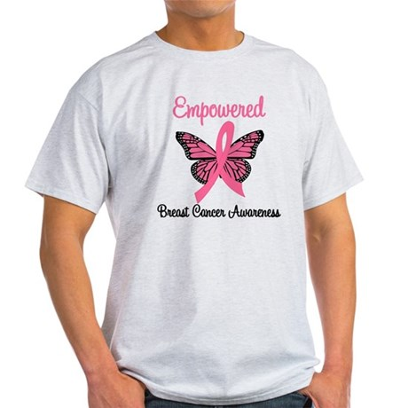 Believe Breast Cancer Butterf Light T-Shirt