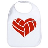 Volleyball heart Bib