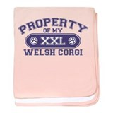 Welsh Corgi PROPERTY baby blanket