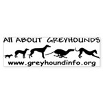 AllAboutGreyhound Sticker (Bumper 10 pk)