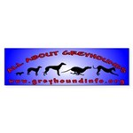 All About Greyhounds Sticker (Bumper 50 pk)