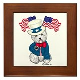 Yankee Doodle Westie Framed Tile