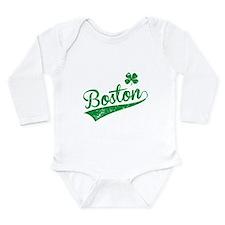 Boston Green Long Sleeve Infant Bodysuit