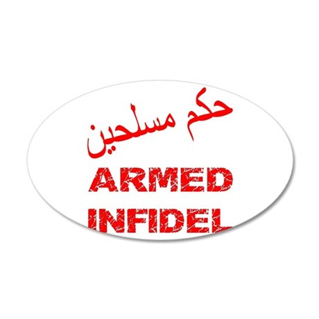 Arabic Armed Infidel 38.5 x 24.5 Oval Wall Peel