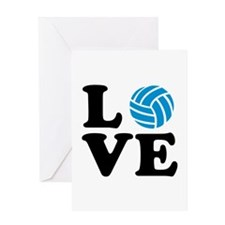 Volleyball love Greeting Card
