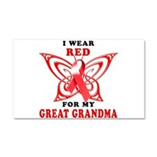 I Wear Red for my Great Grand Car Magnet 20 x 12