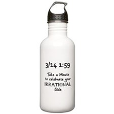 Pi Day Irrational Water Bottle