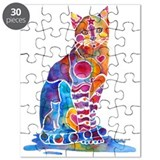 Whimsical Elegant Cat Puzzle