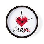 I Love Me (Men) Wall Clock