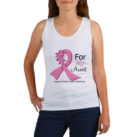 Aunt Breast Cancer Ribbon Women's Tank Top