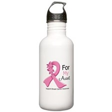 Aunt Breast Cancer Ribbon Water Bottle