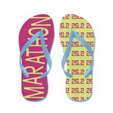 26.2 Marathon PINK LIME Flip Flops