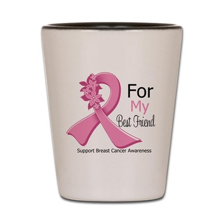 Best Friend Breast Cancer Shot Glass