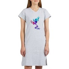 Crazy Purple Tree Frog Women's Nightshirt