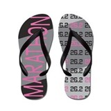 26.2 Marathon PINK GREY Flip Flops
