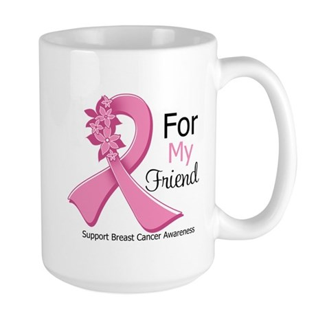Friend Breast Cancer Ribbon Large Mug