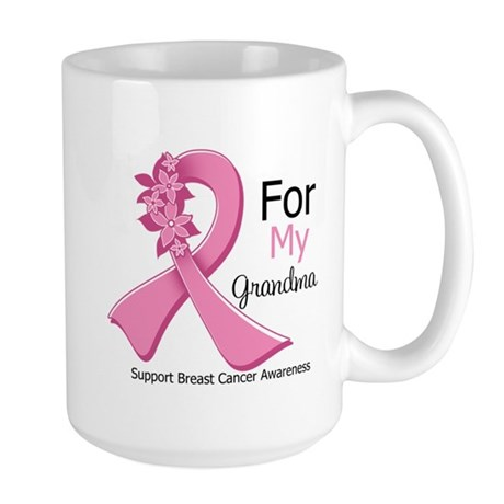 Grandma Breast Cancer Large Mug