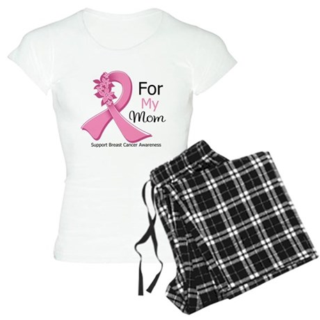 Mom Breast Cancer Ribbon Women's Light Pajamas