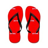Red I'm the Bride Wedding Shoes Flip Flops