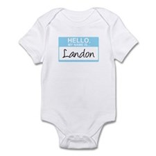 Hello, My Name is Landon - Infant Bodysuit