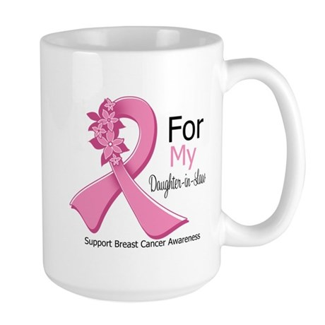 DaughterInLaw Breast Cancer Large Mug