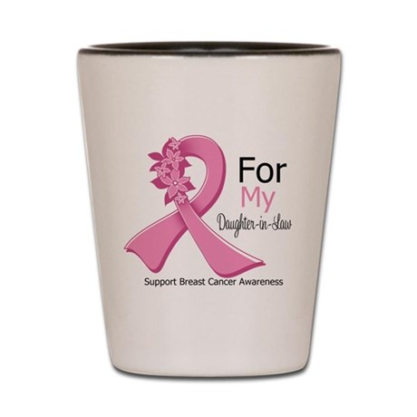 DaughterInLaw Breast Cancer Shot Glass