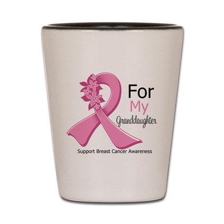 Granddaughter Breast Cancer Shot Glass