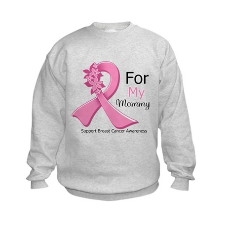 Mommy Breast Cancer Kids Sweatshirt