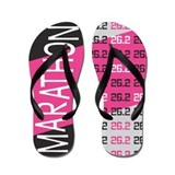 26.2 Marathon Pops of Pink Flip Flops