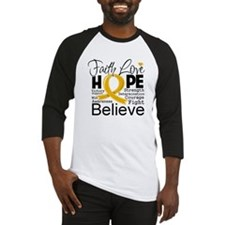Faith Hope Appendix Cancer Baseball Jersey