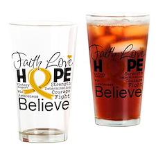 Faith Hope Appendix Cancer Drinking Glass