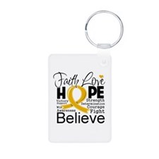 Faith Hope Appendix Cancer Keychains