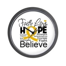 Faith Hope Appendix Cancer Wall Clock