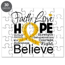 Faith Hope Appendix Cancer Puzzle