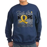 Faith Hope Appendix Cancer Sweatshirt