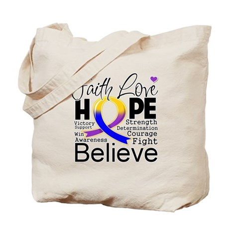 Faith Hope Bladder Cancer Tote Bag