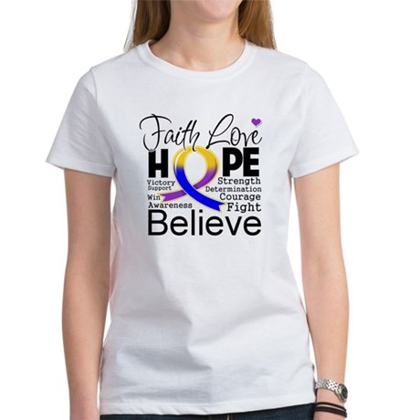 Faith Hope Bladder Cancer Women's T-Shirt
