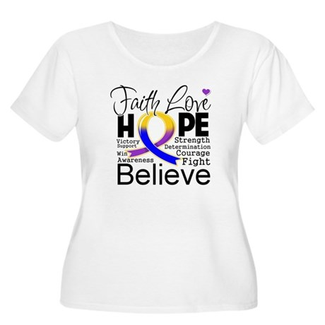 Faith Hope Bladder Cancer Women's Plus Size Scoop