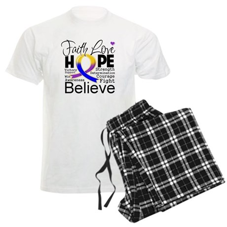 Faith Hope Bladder Cancer Men's Light Pajamas