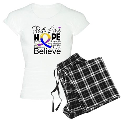 Faith Hope Bladder Cancer Women's Light Pajamas