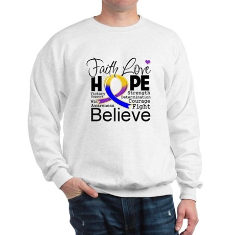 Faith Hope Bladder Cancer Sweatshirt
